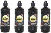 4x Lampenolie / fakkelolie -1 liter - met gratis aansteker