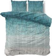 Sleeptime Wood Fresh 2 - Dekbedovertrekset - Lits-Jumeaux - 240x200/220 + 2 kussenslopen 60x70 - Turquoise