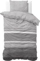 Sleeptime Stone Stripe - Dekbedovertrek - Eenpersoons - 140x200/220 + 1 kussensloop 60x70 - Grijs