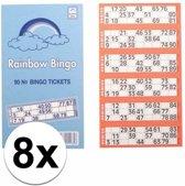 8x Bingokaarten 1-90
