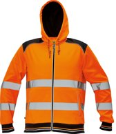 Knoxfield Hooded vest HV fluor oranje, maat L