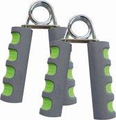 Schildkröt Fitness Handknijper  - 2 Handknijpers - Staal - Groen/Antraciet/Chroom