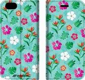 Mobigear Design Mobigear Tropical Design Wallet Bookcase Hoesje 9 iPhone 6 / 6s