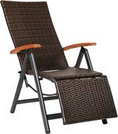TecTake tuinstoel relaxstoel met hoge rugleuning en voetsteun