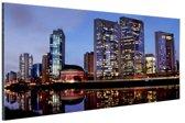 Skyline Sao Paulo by night Aluminium 60x40 cm - Foto print op Aluminium (metaal wanddecoratie)