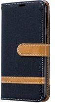 Samsung Galaxy A40 Hoesje - Denim Book Case - Zwart