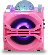 Disco Party Speaker met disco ledlamp - Kleur Roze | Wonky Monkey