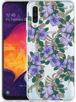 Galaxy A50 Hoesje Purple Flowers