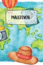 Malediven: Liniertes Reisetagebuch Notizbuch oder Reise Notizheft liniert - Reisen Journal f�r M�nner und Frauen mit Linien