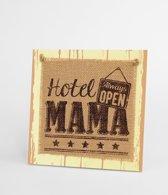 Wooden Sign hotel mama - 20 x 20 cm - Wanddecoratie