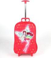 Adventure Bags Prinses Koffer - Wieletjes Met Lichtjes