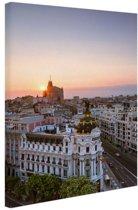 Luchtfoto Madrid Canvas 20x30 cm - klein - Foto print op Canvas schilderij (Wanddecoratie woonkamer / slaapkamer) / Steden Canvas Schilderijen