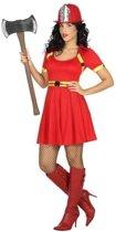 Brandweer verkleedjurk / carnaval kostuum voor dames - carnavalskleding - voordelig geprijsd XL (42-44)