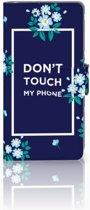 Huawei P10 Boekhoesje Flowers Blue DTMP