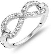 New Bling 9NB-0168-58 - Zilveren ring - zirkonia infinity - maat 58 - zilverkleurig