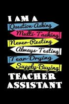 Teacher Assistant: A Journal, Notepad, or Diary to write down your thoughts. - 120 Page - 6x9 - College Ruled Journal - Writing Book, Per