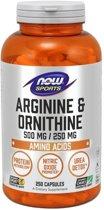 Arginine & Ornithine 500/250mg 250caps