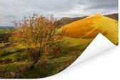 Geel-gekleurde foto van het landschap in het Nationaal park Brecon Beacons Poster 180x120 cm - Foto print op Poster (wanddecoratie woonkamer / slaapkamer) XXL / Groot formaat!