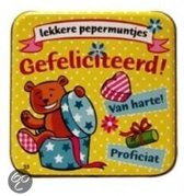 Pepermunt Blikje - Gefeliciteerd (incl. 70 gram pepermunt)