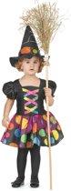 Gekleurd heksen kostuum voor meisjes - Verkleedkleding