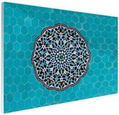 Turkooise mozaiek Midden-Oosten Glas 180x120 cm - Foto print op Glas (Plexiglas wanddecoratie) XXL / Groot formaat!