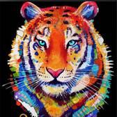 Prachtige Diamond Painting Tijger - 25 x 25cm  inclusief premium tools - DiamondPainting gekleurde tijger
