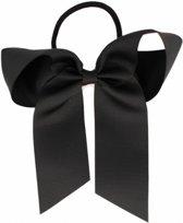 Haarstrik  met elastiek zwart | Zwart | Meisje