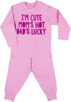 Frogs and Dogs Pyjama Cuto Hot Lucky Pink maat 86