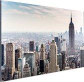 New York City Skyline Aluminium 120x80 cm - Foto print op Aluminium (metaal wanddecoratie)