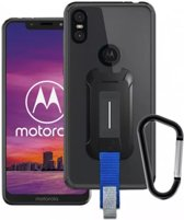 Armor X BX-Series Motorola One Robuust Hoesje Transparant Zwart