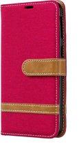Samsung Galaxy A40 Hoesje - Denim Book Case - Rood