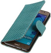Samsung Galaxy On5 - Slang Turquoise Booktype Wallet Hoesje
