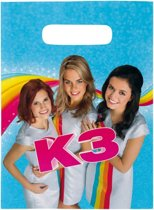 K3 feest uitdeelzakjes - 8 stuks - feestzakjes