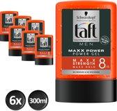Schwarzkopf Taft MAXX Power Haargel 300 ml - 6 stuks - Voordeelverpakking