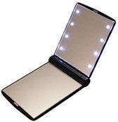 Draagbare Make-Up Spiegel Met LED Verlichting  - Mini Handspiegel / Cosmeticaspiegel