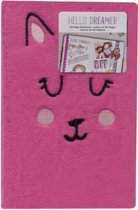 American crafts - Hello Dreamer Furry Notebook - 60 paginas