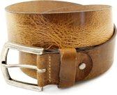 XXL Belts Heren,Damesriem Jeans 1392 - Naturel - 130 cm
