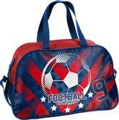 Sporttas - Voetbal - voor Jongens - 40 cm - Blauw met Rood