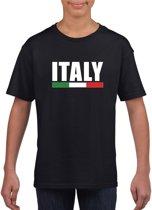 Zwart Italie supporter t-shirt voor heren - Italiaanse vlag shirts XS (110-116)