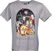 Star-Wars-T-shirt-met-korte-mouw-grijs - Maat M