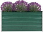 Plantenbak gegalvaniseerd staal Groen voor Buiten 160x40x77cm / Planten Bak voor Tuin / Planten bakken voor tuin / Bakken voor planten