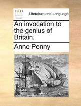 An Invocation to the Genius of Britain.