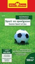 WOLF-Garten Sport & Spel Gazon LG 100 - voor 100m2 - kiemt snel - eenvoudig onderhoud - intensief gebruik - alle bodemsoorten