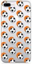 iPhone 7 Plus Hoesje Soccer Ball Orange Shadow