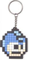 Megaman-Pixel Head Rubber Keyring