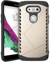 Youngsters LG G5 Back Cover - Rugged Shell serie - Goud hoesje