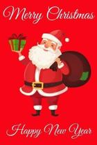Merry Christmas Happy New Year: Cute Santa Claus, Blank Lined Notebook / Journal / Diary (Volume 2)