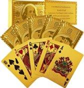 Luxe Gouden Speelkaarten Set - Poker Kaarten / Poker Set Kaartspel - Plastic Playing Cards Geplastificeerd / Spel Kaarten