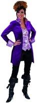 Musketier Kostuum | Mantel En Vest Gave Gravin Paars Vrouw | Medium | Carnaval kostuum | Verkleedkleding