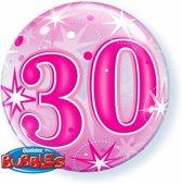 Folie helium ballon 30 jaar roze 45 cm